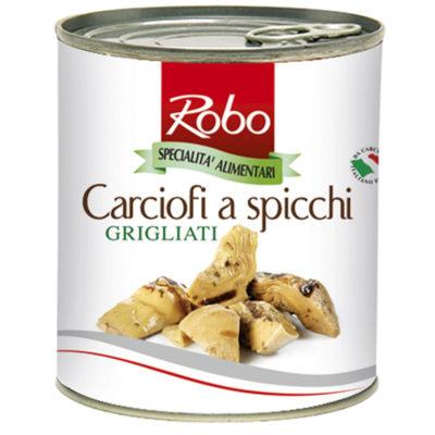 Carciofi Spicchi Grigli 780g 6u Robo