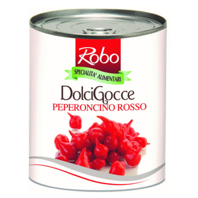 Peperoncini Gocce Rossi 780gr.x6ud Robo