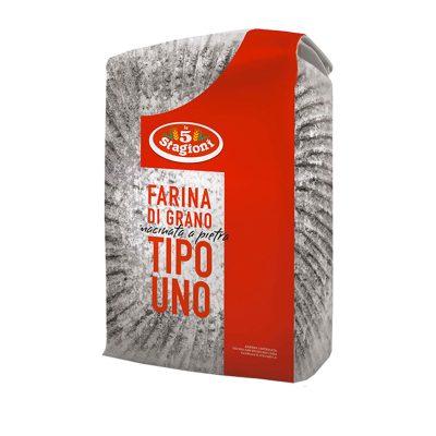 """Farina Macinata A Pietra Tipo """"1"""" 25kg 5 Stagioni"""